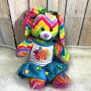 Build a Bear Multi Color Bear with Outfit